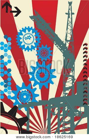Industrial grunge background