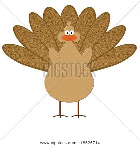 Turkey Rendering on white Background