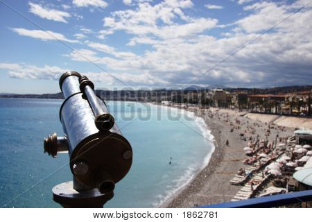 Old Telescope Overlooking Nice