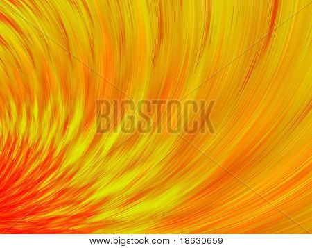 Fractal image depicting the fire in a furnace.