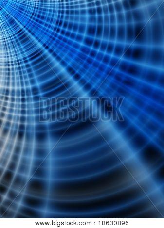 Fraktalbild, die eine abstrakte Spinnennetz, die im World Wide Web.