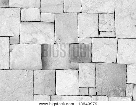 Interlocking stone wall for a textured background.