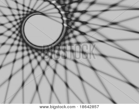 Fractal image of an abstract spider web.