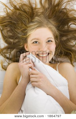 Woman Under Duvet