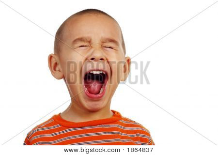 Boy Making A Funny Face
