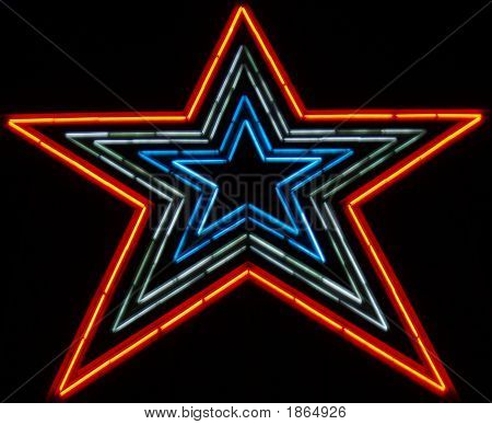 Neon Star About 100 Ft Tall