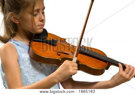 Young Girl Playing Violin