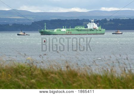 Chemical Tanker At Braefoot Bay