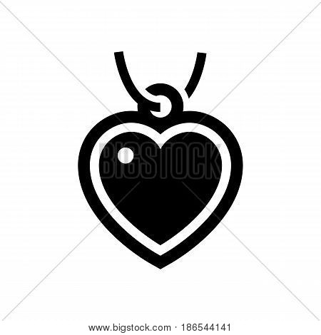 Pendant. Black icon isolated on white background