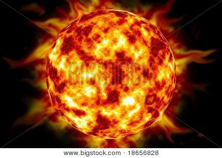 Big Sun. Element of design.