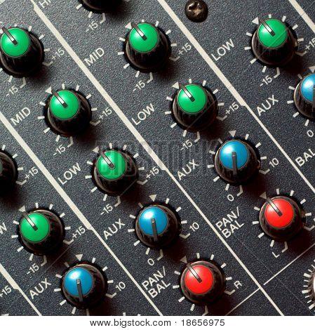 Colorful sound mixer. Texture design.