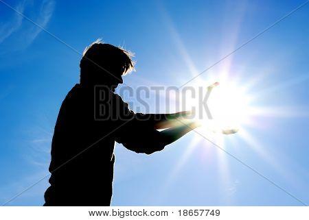 Man control the sun. Conceptual design.