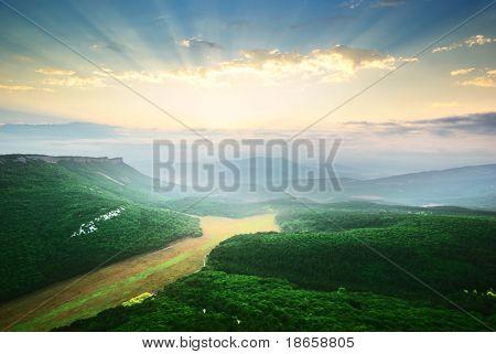 Mountain landscape. Beautiful composition of nature.