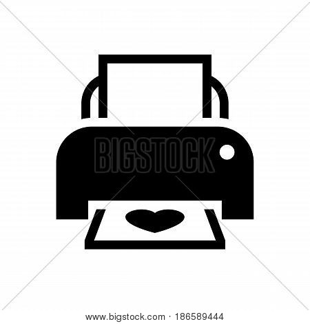 Print. Black icon isolated on white background