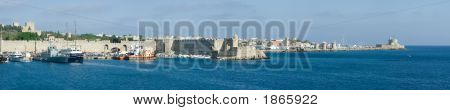 Rhodes Harbour Panorama