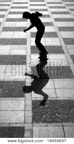 Skater and shadow. Element of design.