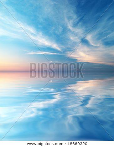 Himmel Hintergrund und Wasser Reflexion. Element des Designs.