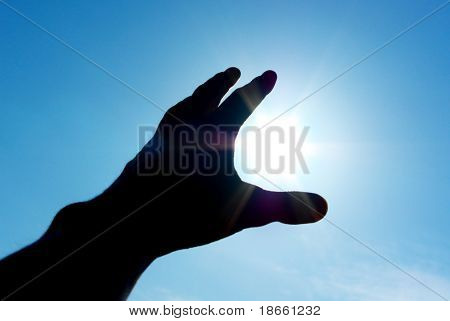 Hand to sun. Conceptual design.