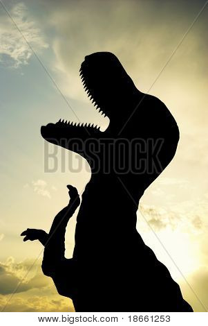 Silhouette of T-Rex. Element of design.