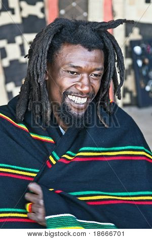 rasta man with dreadlocks, people diversity series
