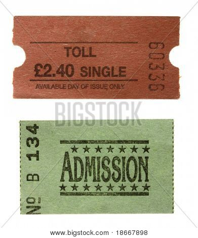 TOLL single ticket and green General admission  ticket