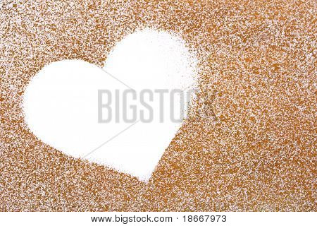 golden painted  paper with white heart shape, perfect layers or background for valentine's day
