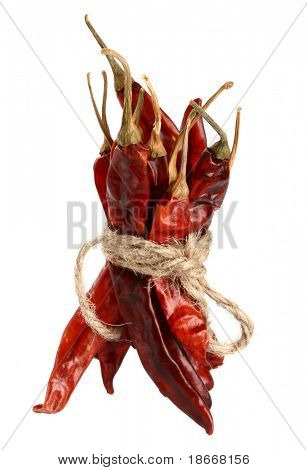 especias - manojo de pimienta de chiles secos red hot chilli