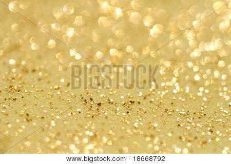 glitter oro brilla fondo del polvo