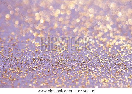 golden glitter sparkles dust background, shallow DOF