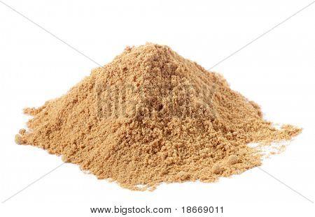 spices - pile of Light Garam Masala over white