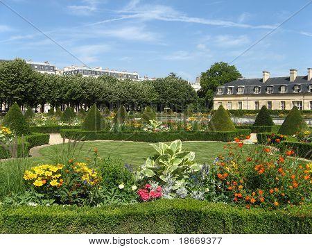 One Of The Gardens Of Paris