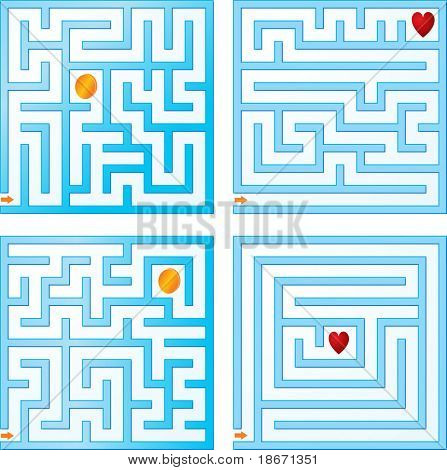 Small blue maze collections