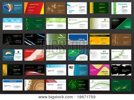 Vários cartões de visita