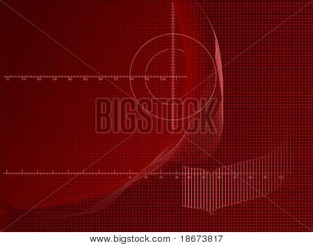 Red Axis Chart Abstract Business Background