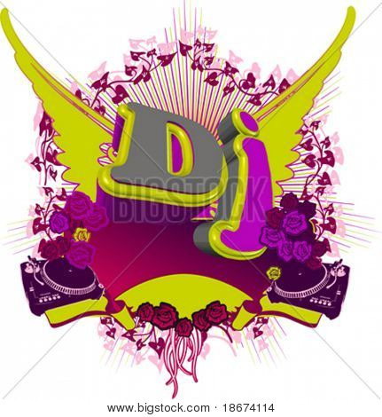 Abstract DJ Splash. Music background. For Flayer.