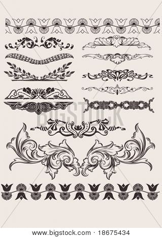 Set Of Different Style Design Elements