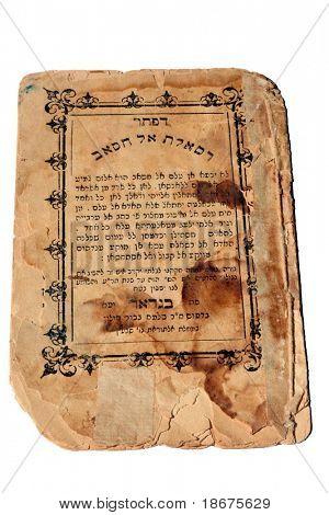 Viejo libro judío iraquí escrito en árabe en letras hebreas
