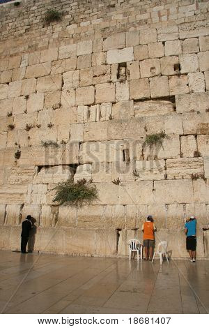 A Man at the Western Wall, Israel