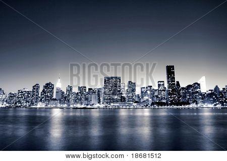 Midtown Manhattan Skyline At Night
