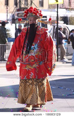 NEW YORK - FEB 21: Participant in the Chinese Lunar New Year Parade on February 21, 2010 in New York City