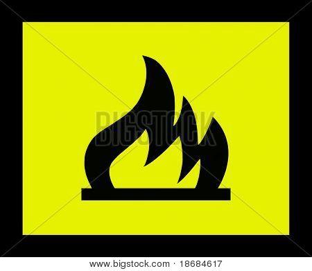 Sinal de perigo de fogo