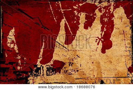 Computer designed highly detailed urban grunge textured  paper background. Nice grunge element for your projects