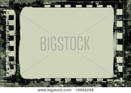 Marco de película altamente detallados de computadora diseñada con espacio para el texto o la imagen. Imag de alta resolución