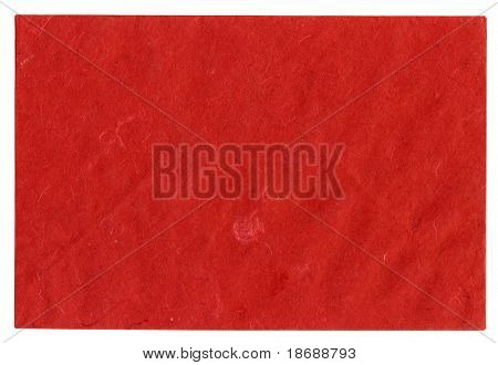 High resolution detailed old red decorative  paper over white. Nice texture for your projects