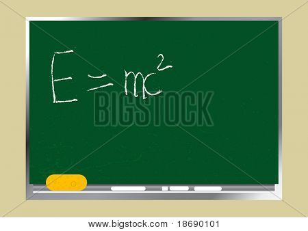 Editable vector background - School textured wooden blackboard.  Just change the text as you wish.