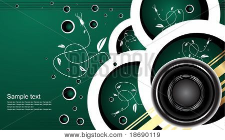 Editable vector audio background