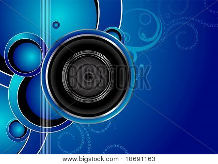 Editable vector audio background with space for your text. More images like this in my portfolio.