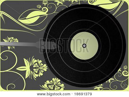 Vinyl player background