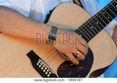 Hand Of Guitar Player