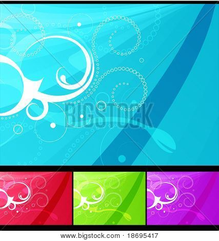 Editable modern vector grunge floral background with space for your text.